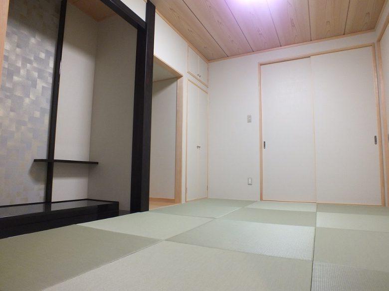 琉球畳を敷いたモダンな和室