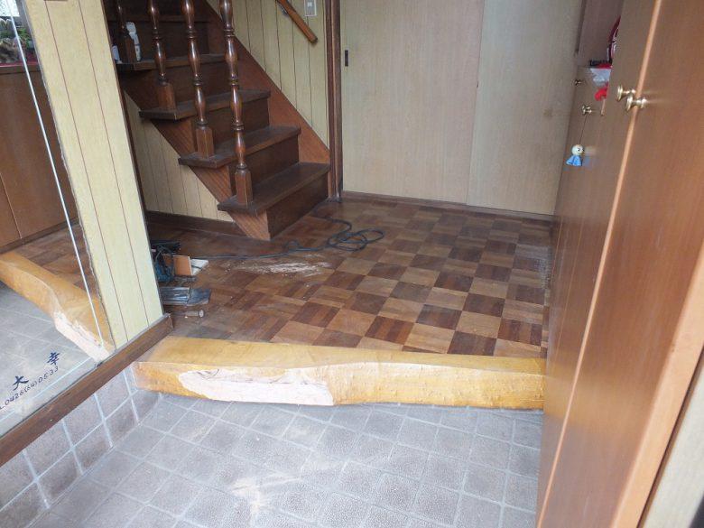 床貼り替え施工前